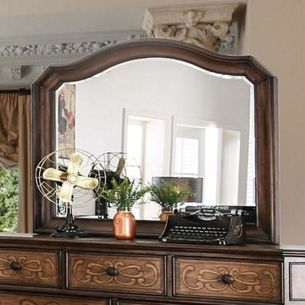 Home & Garden Bedolla 7 Drawer Double Dresser With Mirror