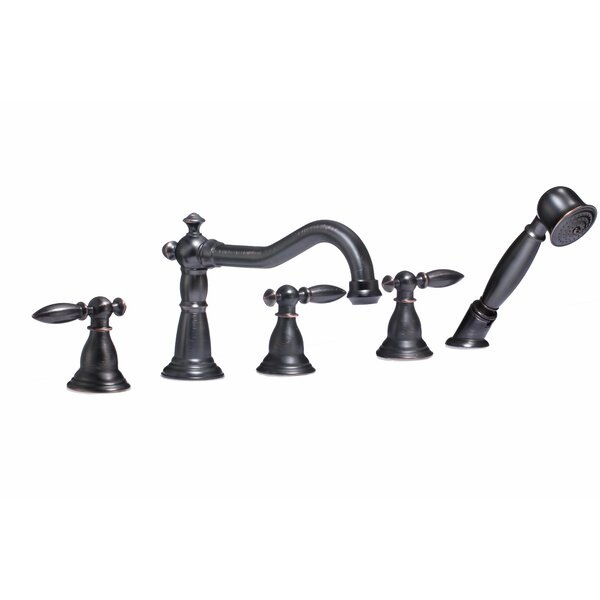 Patriarch Double Handle Deck Mounted Roman Tub Faucet with Handheld Shower by ANZZI