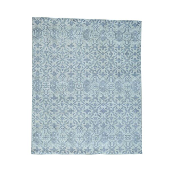 One-of-a-Kind Dorcey Hand-Knotted Wool Blue Area Rug by Canora Grey