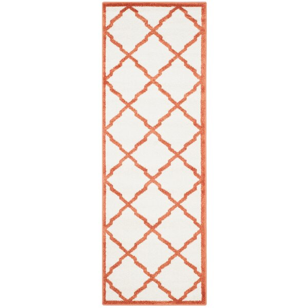Maritza Power Loomed Beige/Orange Indoor/Outdoor Area Rug by Willa Arlo Interiors