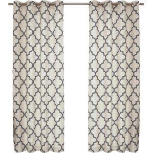Lakewood Moroccan Tile Curtain Panels (Set Of 2)