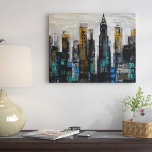 'New-York-Moment' Oil Painting Print on Wrapped Canvas by Red Barrel Studio
