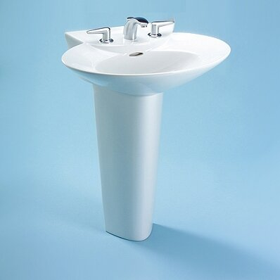 Pacifica Ceramic 26 Pedestal Bathroom Sink with Overflow by Toto