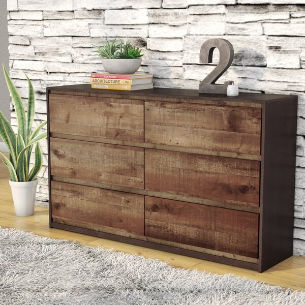 Taumsauk 6 Drawer Double Dresser with Mirror by Trent Austin Design