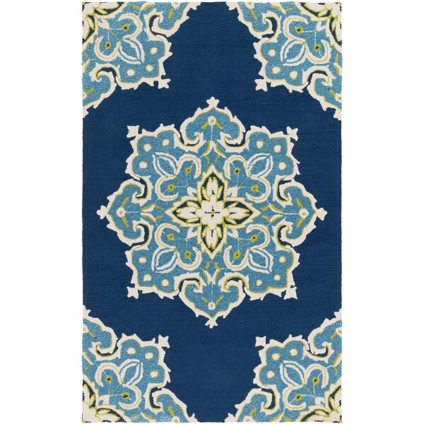 Iona Hand-Hooked Blue Indoor/Outdoor Area Rug by Mistana
