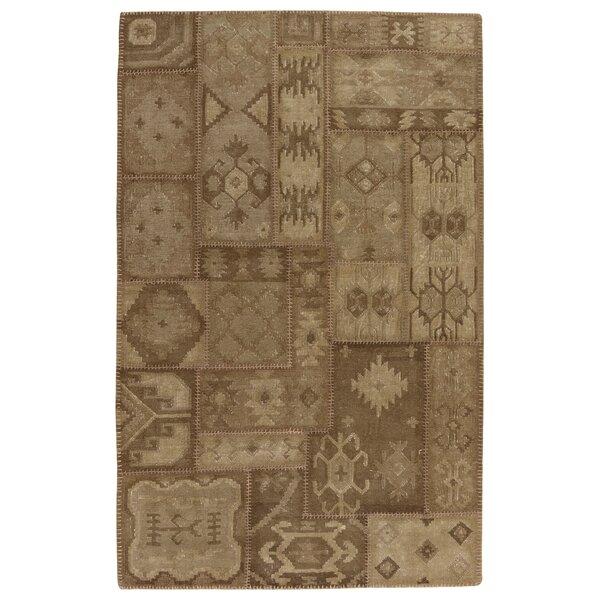 Annabelle Kilim Hand-Woven Chocolate Patchwork Area Rug by Kosas Home