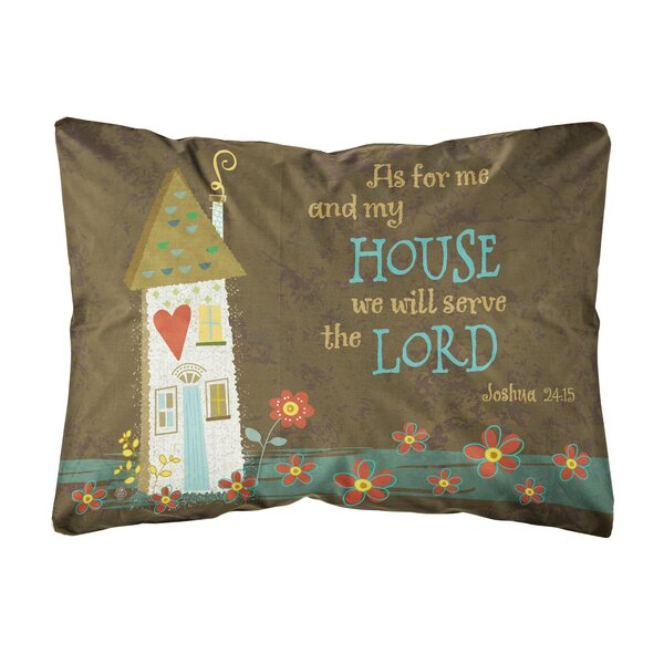 Leal As for Me And My House Fabric Indoor/Outdoor Throw Pillow by Winston Porter