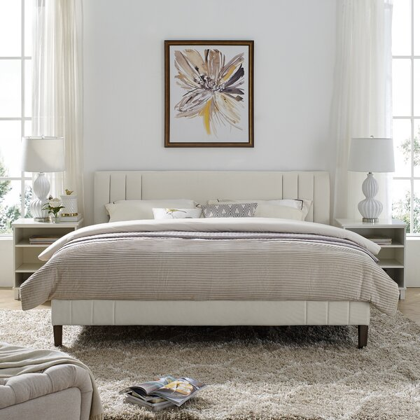 Moniz Peyton Shell Upholstered Platform Bed by Wrought Studio