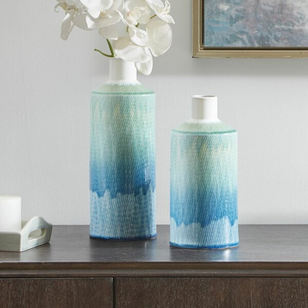 Cadiz 2 Piece Table Vase Set by Highland Dunes