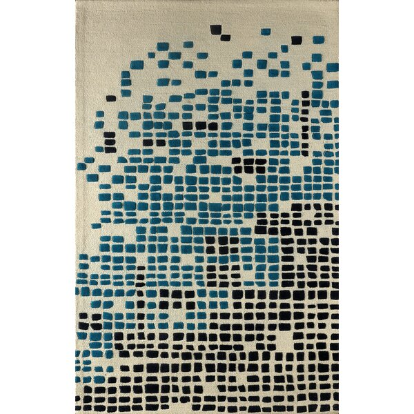 Clara Hand-Tufted Ivory/Blue Area Rug by Latitude Run