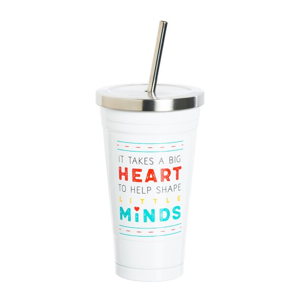 Beechwood Big Heart Insulated 16oz. Stainless Steel Travel Tumbler by Ebern Designs