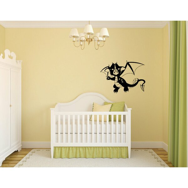 Kristopher Dragon Baby Silhouette Wall Decal by Zoomie Kids