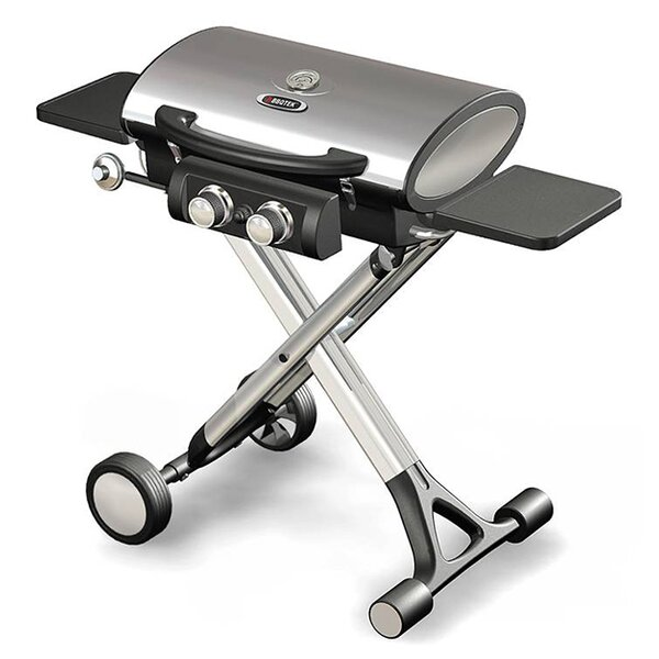 Foldable 2-Burner Flat Top Propane Gas Grill by BroilChef