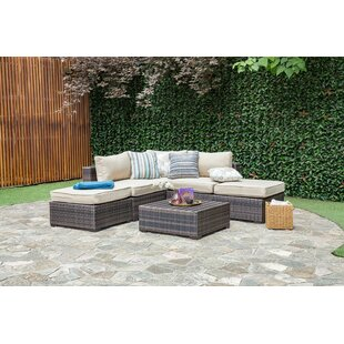 Lara 6 Piece Rattan Sectional Set With Cushions