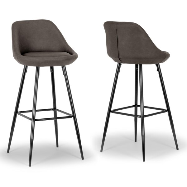 Aldis Bar Stool (Set of 2) by Glamour Home Decor