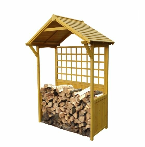 7 Ft. x 4 Ft. Wood Log Store by Leisure Season