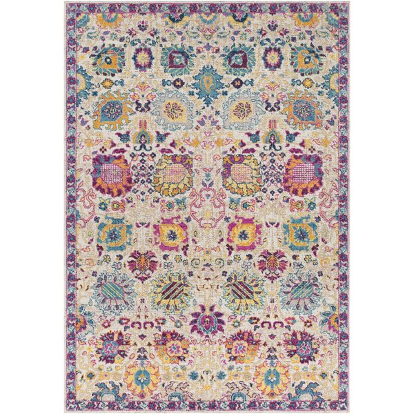 Lancaster Traditional Fuschia/Eggplant Area Rug by Bloomsbury Market
