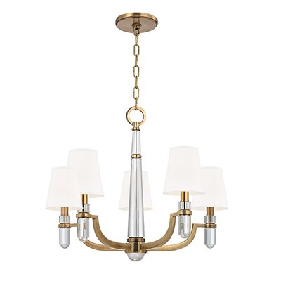 Abels 5 - Light Shaded Classic / Traditional Chandelier By Everly Quinn