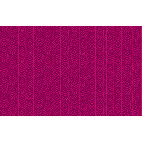 Sketched Ikat Purple Rug by Manual Woodworkers & Weavers