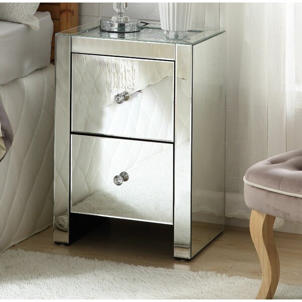 Vanesa 2 Drawer Nightstand by Rosdorf Park