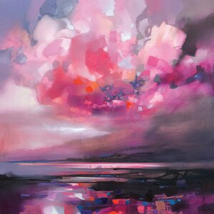 'Dispersing Magenta' Print on Canvas by East Urban Home