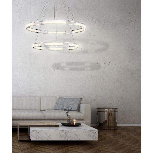 Sturtz 6-Light LED Unique / Statement Wagon Wheel Chandelier By Orren Ellis