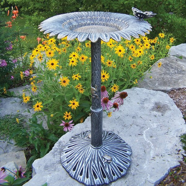 Butterfly Sunflower Birdbath by Oakland Living