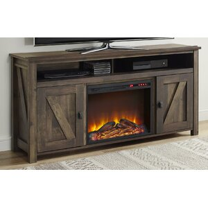 Gilby 60 TV Stand with Fireplace by August Grove