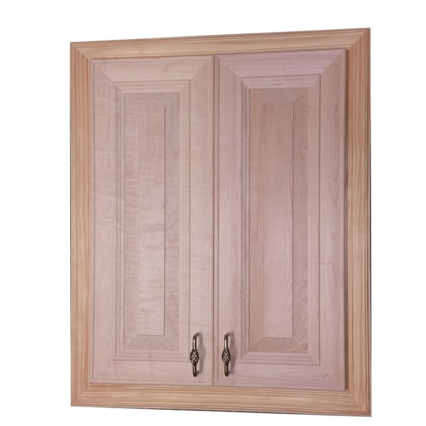 Brookside 22.75 W x 34.25 H Recessed Cabinet by WG Wood Products