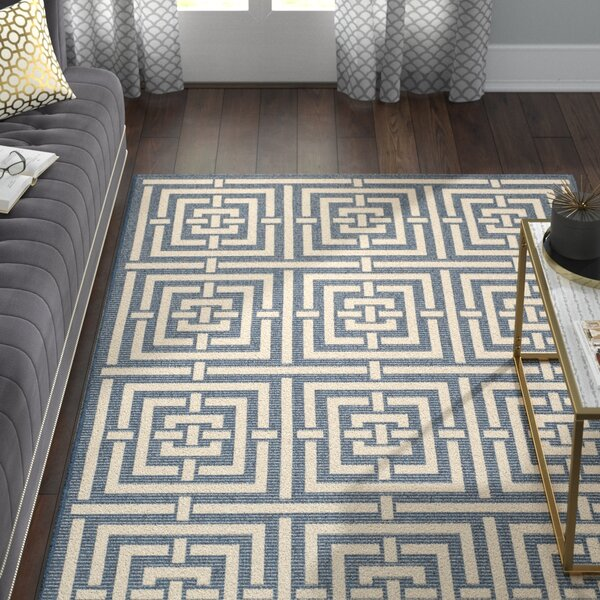Mayer Navy/Beige Outdoor Rug by Willa Arlo Interiors