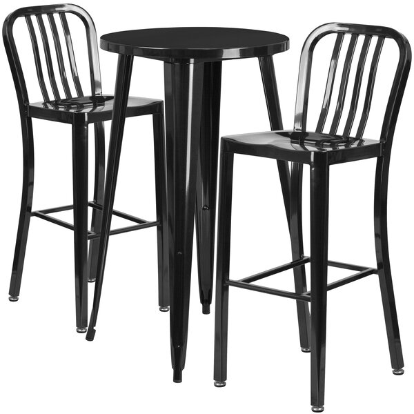 Sass 3 Piece Bar Height Dining Set by Latitude Run