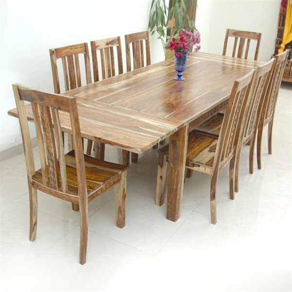 Sahara Extendable Solid Wood Dining Table by Aishni Home Furnishings