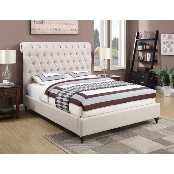 Buchanan Queen Tufted Upholstered Sleigh Bed by Canora Grey Canora Grey