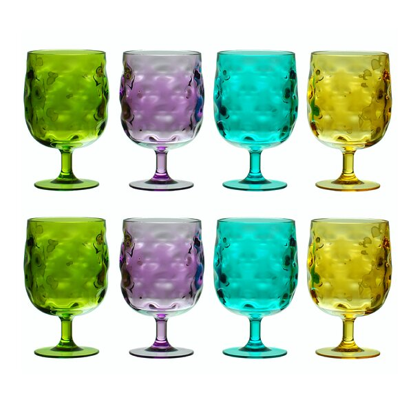 Bedell Stackable 12 oz. Acrylic Liqueur Glass (Set of 8) by Ivy Bronx