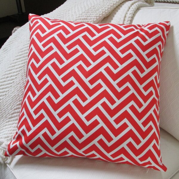 ZigZag Coral Indoor Throw Pillow by Artisan Pillows