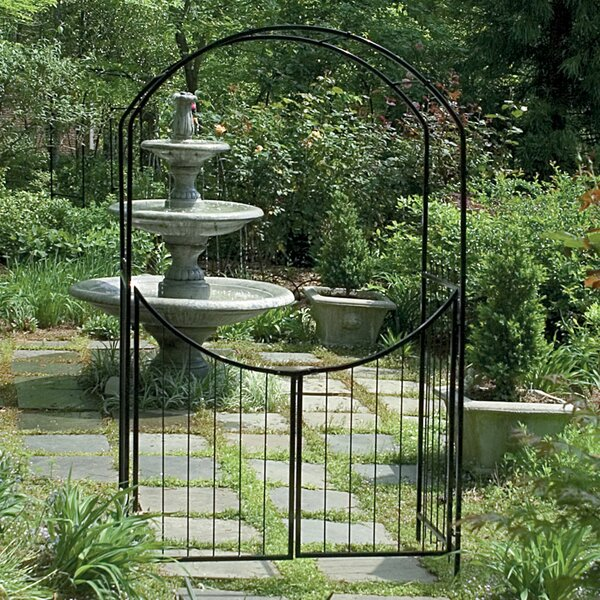 Savannah Steel Arbor with Gate by Gardman