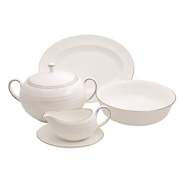 Elegance Bone China Special Serving 5 Piece Dinnerware Set by Shinepukur Ceramics USA, Inc.