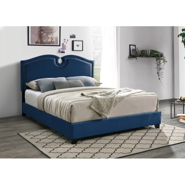 Cottman Scalloped Upholstered Standard Bed by House of Hampton
