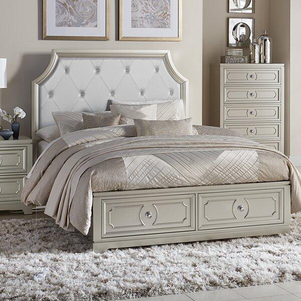 Eldridge Queen Upholstered Storage Panel Bed by House of Hampton