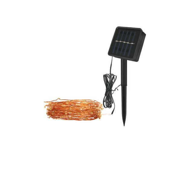 Vickers 5.5' Outdoor LED Solar Powered 120 - Bulb Fairy String Light by Symple Stuff