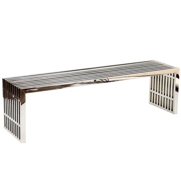 Ferrari Metal Bench by Everly Quinn Everly Quinn