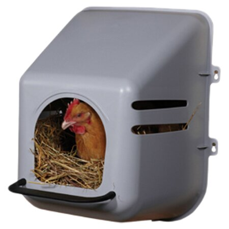 Nesting Box Wall Mount in Plastic by Miller Mfg