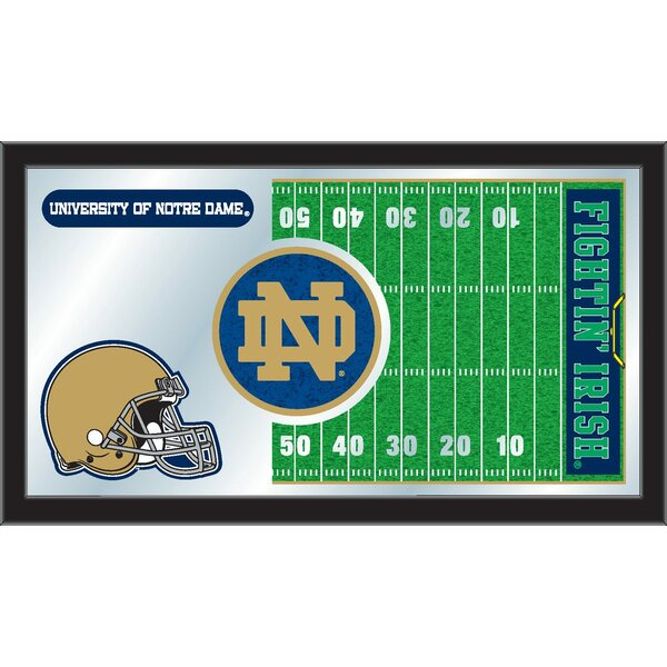 NCAA Football Mirror Framed Graphic Art by Holland Bar Stool