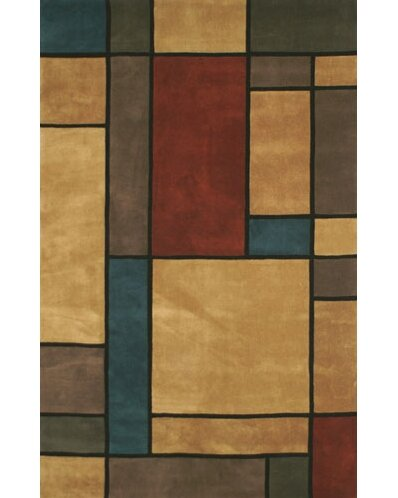 Casual Contemporary Earth Tones Metro Area Rug by American Home Rug Co.