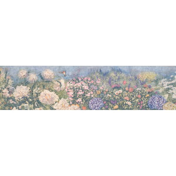Hydrangea Floral Wallpaper Border by August Grove