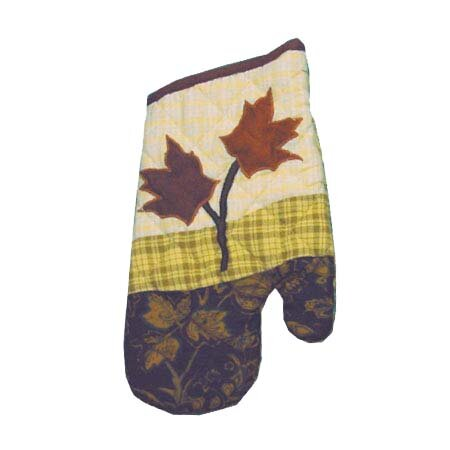 Autumn Leaves Oven Mitt by Patch Magic