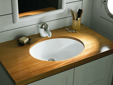 Compass Ceramic Circular Dual Mount Bathroom Sink by Kohler