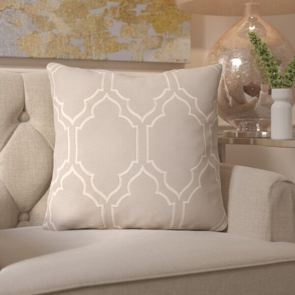 Honiton Linen Throw Pillow by House of Hampton