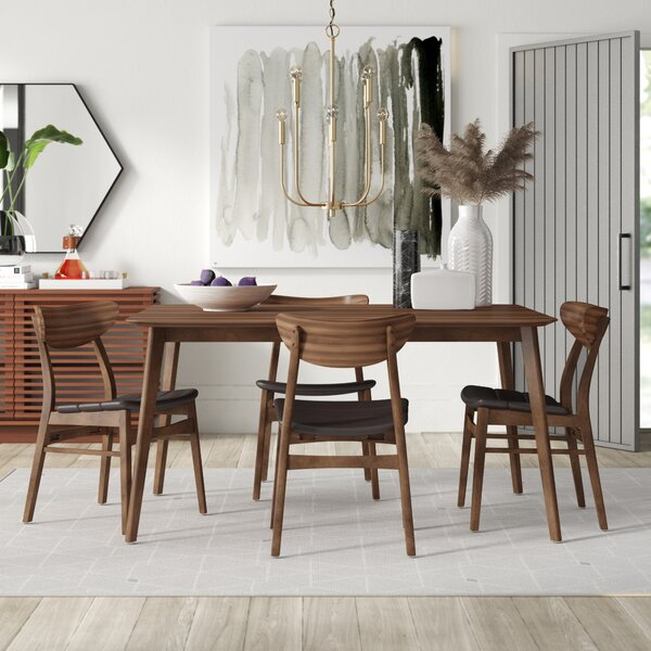 Amazing Lillis 5 Piece Dining Set By Mercury Row Savings