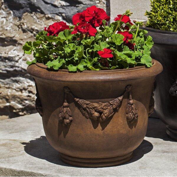 Della Robbia Cast Stone Pot Planter by Campania International